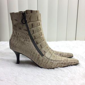Donald J Pliner Salonas Alligator Leather Boots 6